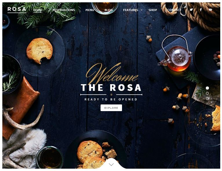 restaurant or bar website design